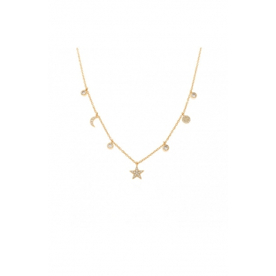 Compar Tiana Gold Necklace online