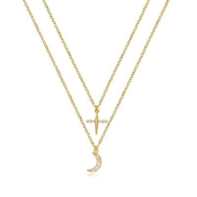 Compar Double Gold Necklace online